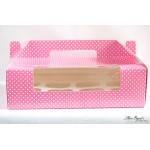 Pink Polka Dot 12-Cupcake Box