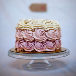 Pastel Ombré Rose Chocolate Cake
